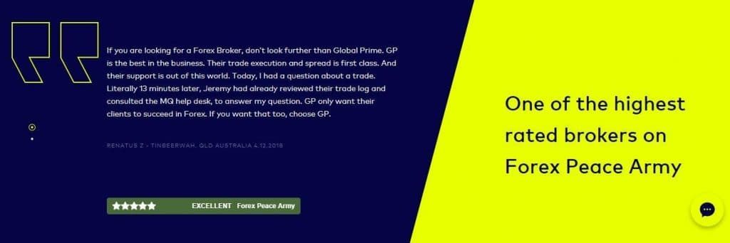 Global Prime Australia broker overviews