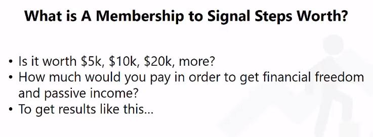 Signal Steps Robot Pricing
