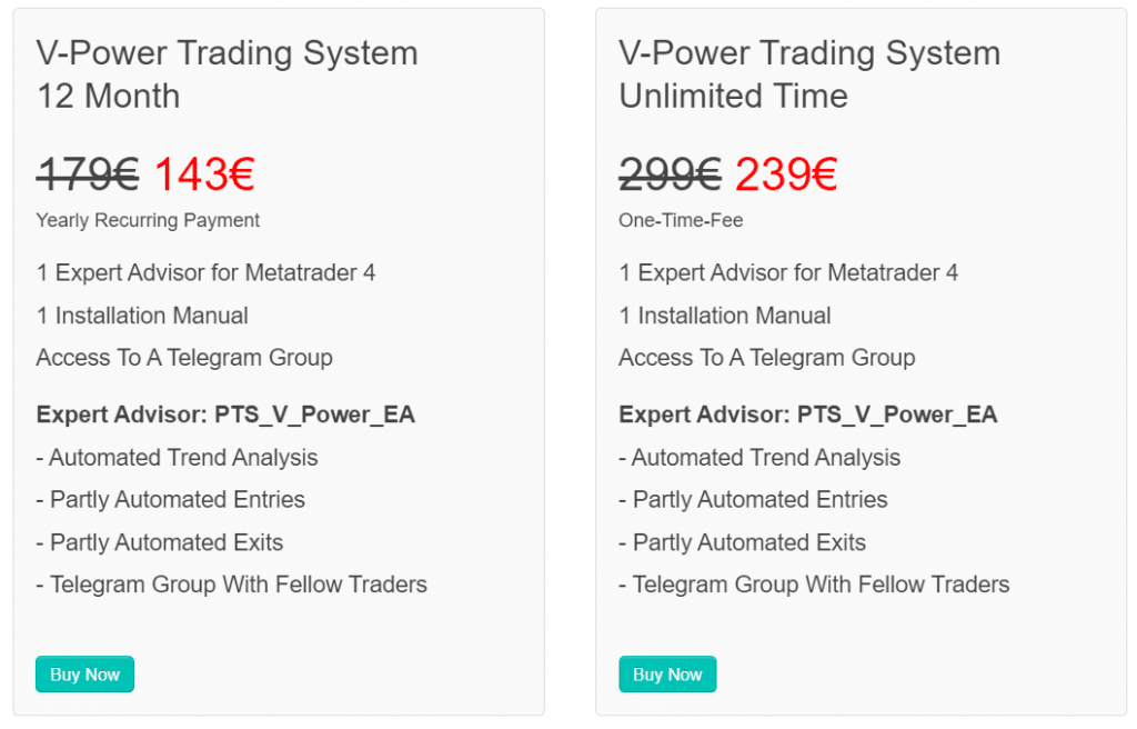 Perfect Trend System Pricing