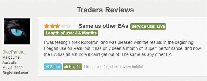 Forex Robotron customer reviews