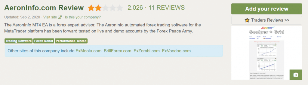 Aeron Scalper plus Grid People's feedback