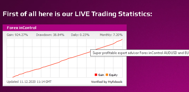 Verified Trading Results of Forex inControl