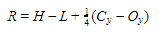 If the value of H-L is highest, R is calculated as follows
