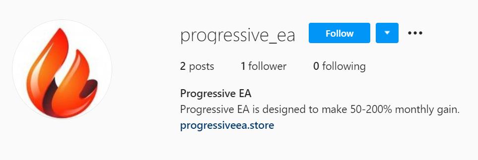Progressive EA Instagram page