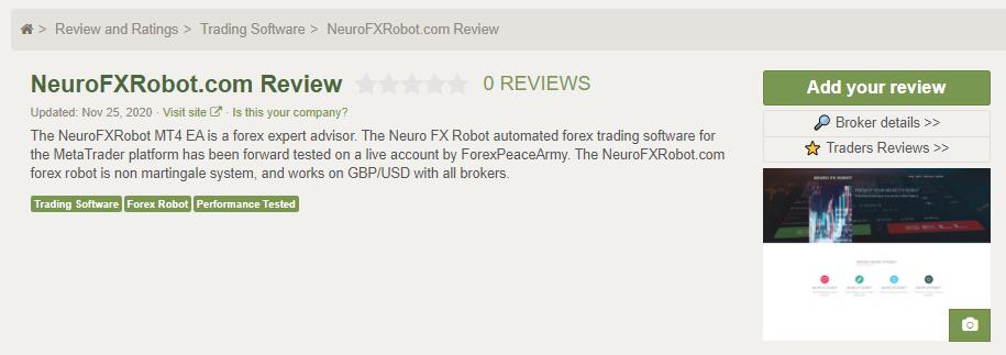 Neuro FX Robot People feedback