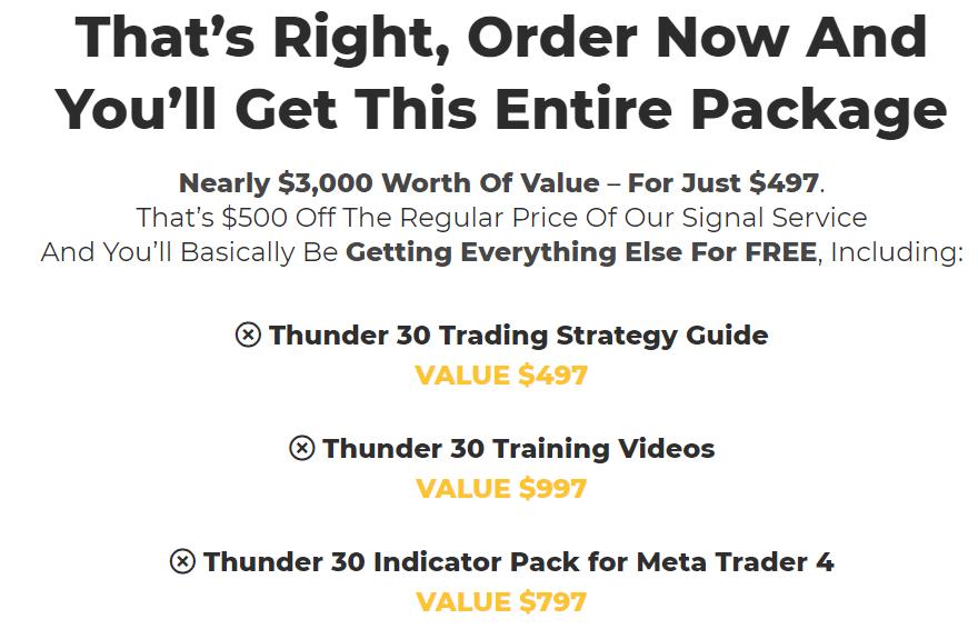 Thunder 30 Signals price