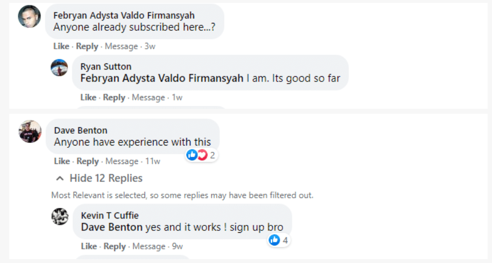 FXTrends People feedback