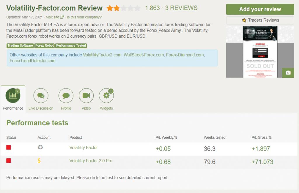 Volatility Factor 2.0 People feedback