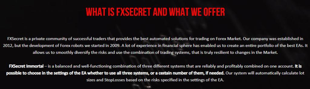 FXSecret Immortal presentation