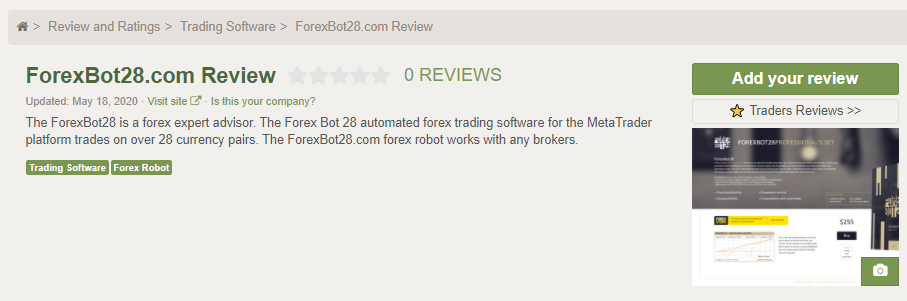 ForexBot28 People feedback